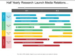 Half Yearly Research Launch Media Relations Marketing Timeline