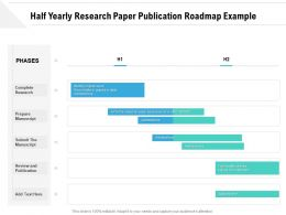 Half Yearly Research Paper Publication Roadmap Example