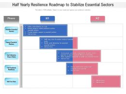 Half Yearly Resilience Roadmap To Stabilize Essential Sectors