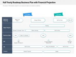 Half Yearly Roadmap Business Plan With Financial Projection