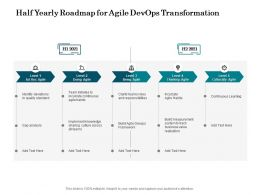 Half Yearly Roadmap For Agile Devops Transformation