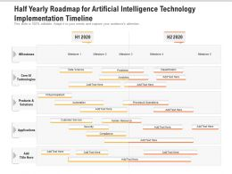Half Yearly Roadmap For Artificial Intelligence Technology Implementation Timeline