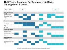 Half Yearly Roadmap For Business Unit Risk Management Process