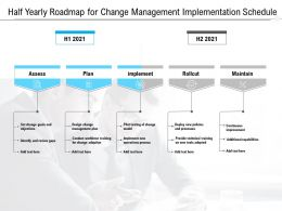 Half Yearly Roadmap For Change Management Implementation Schedule