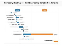 Half Yearly Roadmap For Civil Engineering Construction Timeline