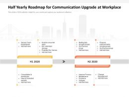 Half Yearly Roadmap For Communication Upgrade At Workplace