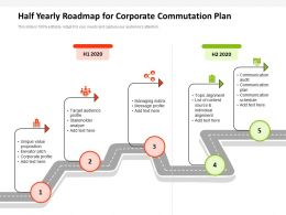 Half Yearly Roadmap For Corporate Commutation Plan