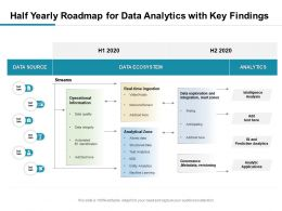 Half Yearly Roadmap For Data Analytics With Key Findings