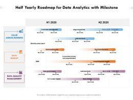 Half Yearly Roadmap For Data Analytics With Milestone