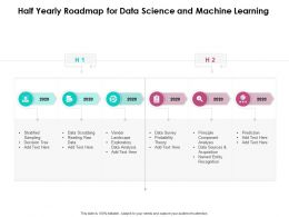 Half Yearly Roadmap For Data Science And Machine Learning