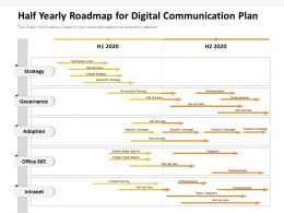 Half Yearly Roadmap For Digital Communication Plan