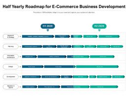 Half Yearly Roadmap For E Commerce Business Development