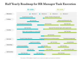 Half Yearly Roadmap For HR Manager Task Execution