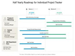 Half Yearly Roadmap For Individual Project Tracker