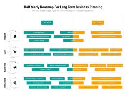 Half Yearly Roadmap For Long Term Business Planning