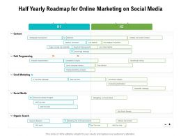 Half Yearly Roadmap For Online Marketing On Social Media