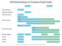 Half Yearly Roadmap For Production Project Tracker