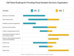 Half Yearly Roadmap For Providing Virtual Assistant Service To Organization