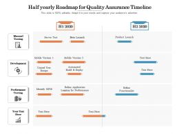 Half Yearly Roadmap For Quality Assurance Timeline