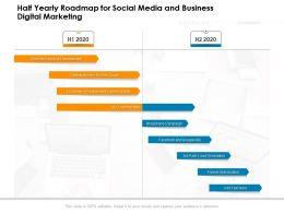 Half Yearly Roadmap For Social Media And Business Digital Marketing