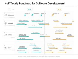 Half Yearly Roadmap For Software Development
