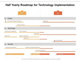Half Yearly Roadmap For Technology Implementation