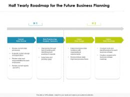 Half Yearly Roadmap For The Future Business Planning