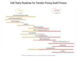 Half Yearly Roadmap For Transfer Pricing Audit Process