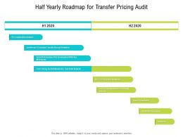 Half Yearly Roadmap For Transfer Pricing Audit