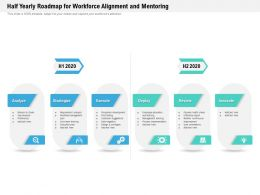 Half Yearly Roadmap For Workforce Alignment And Mentoring
