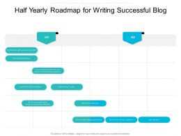 Half Yearly Roadmap For Writing Successful Blog