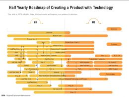 Half Yearly Roadmap Of Creating A Product With Technology