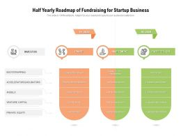 Half Yearly Roadmap Of Fundraising For Startup Business