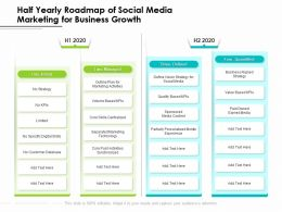 Half Yearly Roadmap Of Social Media Marketing For Business Growth