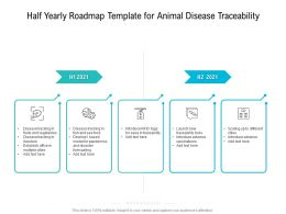 Half Yearly Roadmap Template For Animal Disease Traceability