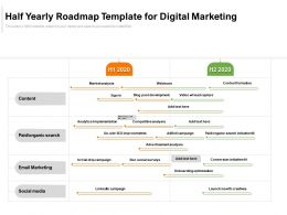 Half Yearly Roadmap Template For Digital Marketing