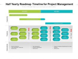 Half Yearly Roadmap Timeline For Project Management