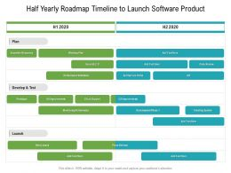 Half Yearly Roadmap Timeline To Launch Software Product