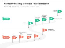 Half Yearly Roadmap To Achieve Financial Freedom