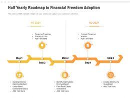 Half Yearly Roadmap To Financial Freedom Adoption