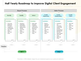 Half Yearly Roadmap To Improve Digital Client Engagement
