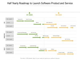 Half Yearly Roadmap To Launch Software Product And Service