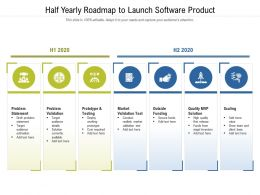 Half Yearly Roadmap To Launch Software Product