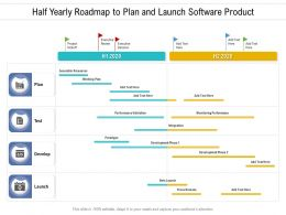 Half Yearly Roadmap To Plan And Launch Software Product