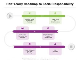 Half Yearly Roadmap To Social Responsibility