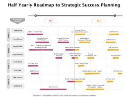 Half Yearly Roadmap To Strategic Success Planning