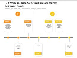 Half Yearly Roadmap Validating Employee For Post Retirement Benefits