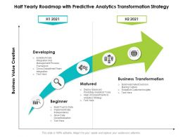 Half Yearly Roadmap With Predictive Analytics Transformation Strategy