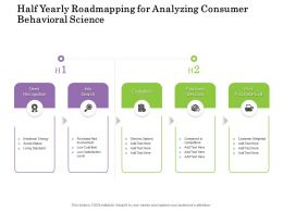Half Yearly Roadmapping For Analyzing Consumer Behavioral Science