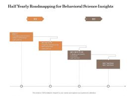 Half Yearly Roadmapping For Behavioral Science Insights